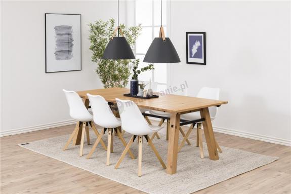 Actona stól i 6 krzeseł Stodim Drewno-Biały