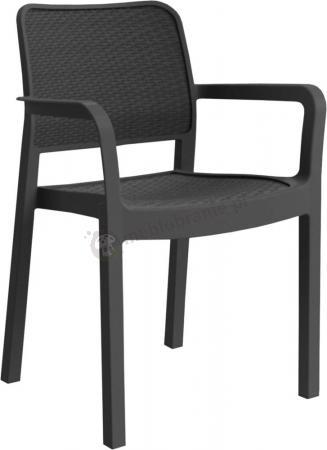 Krzesło ogrodowe Samanna - grafitowe