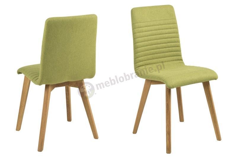 Actona Arosa krzesło do jadalni nowoczesne zielone