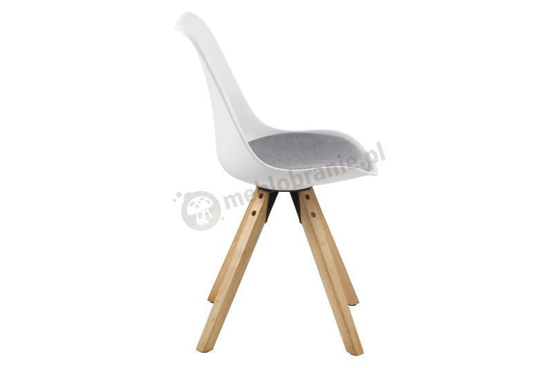 Actona Dima krzesło plastikowe z szarą poduszką