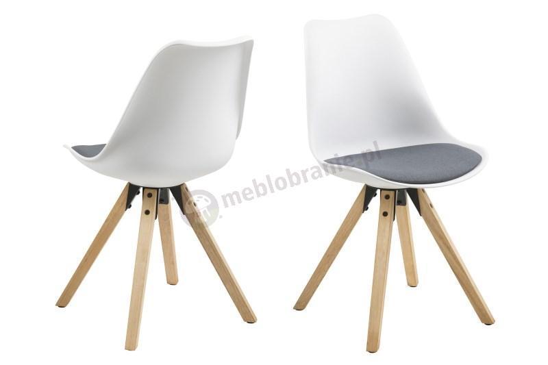 Actona Dima krzesło plastikowe z drewnianymi nogami