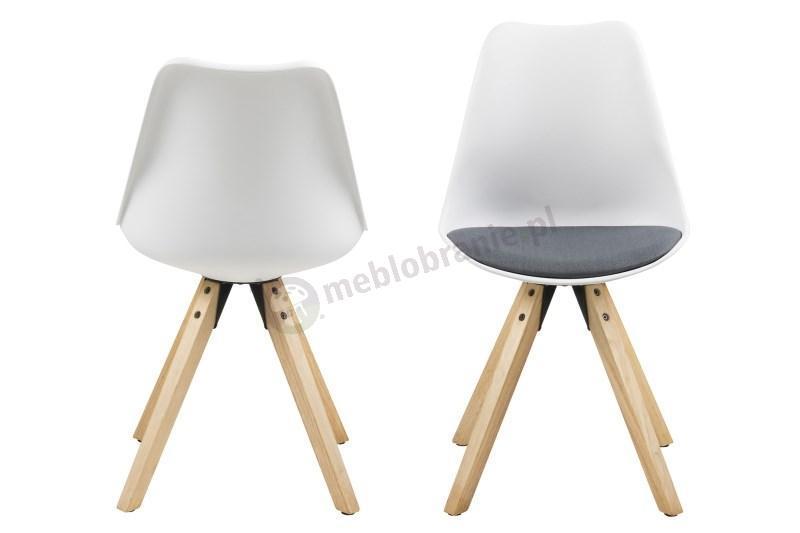 Actona Dima krzesło plastikowe z ciemno szara poduszką