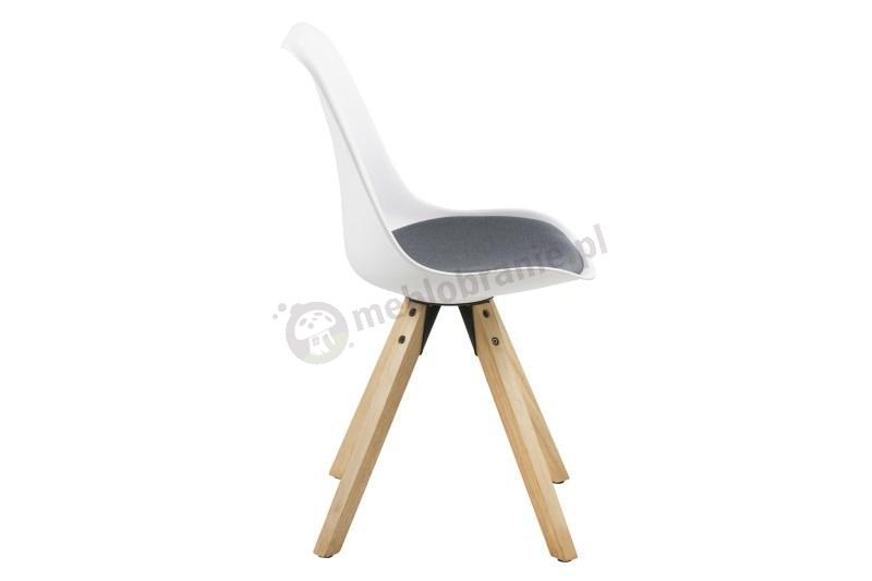 Actona Dima krzesło plastikowe z ciemno  szarą poduszką