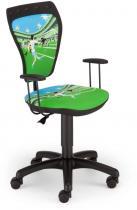 Fotel Ministyle Black Cartoons GTP TS22 La Liga krzesło obrotowe dla dzieci