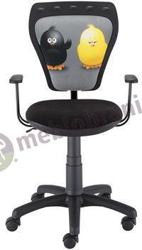 Fotel Ministyle Black Cartoons GTP TS22 Kurczaki