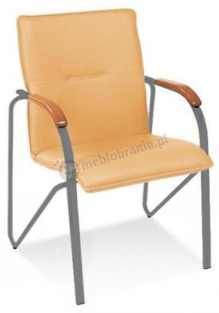 Krzesło konferencyjne Samba Oranż Stelaż Aluminium