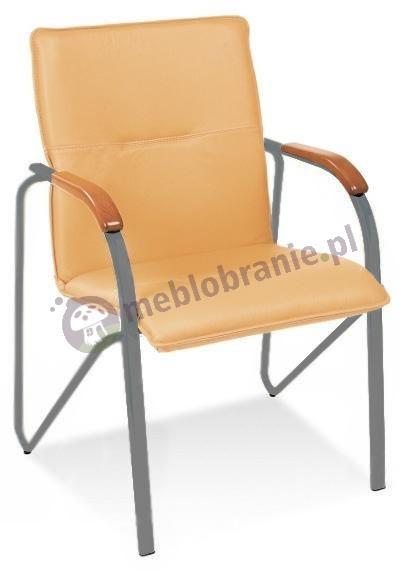 Krzesło biurowe bez kółek Samba Nowy Styl Aluminium Oranż