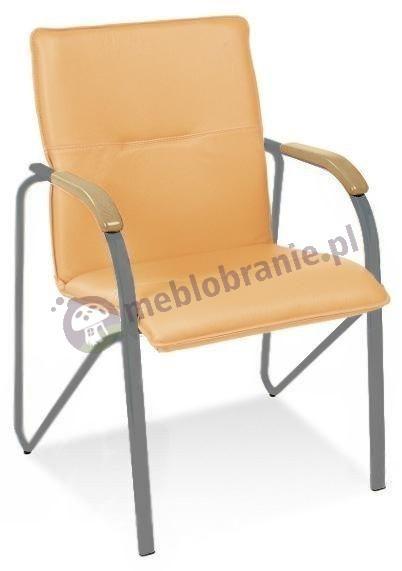 Krzesło tapicerowane Samba Aluminium Buk Naturalny