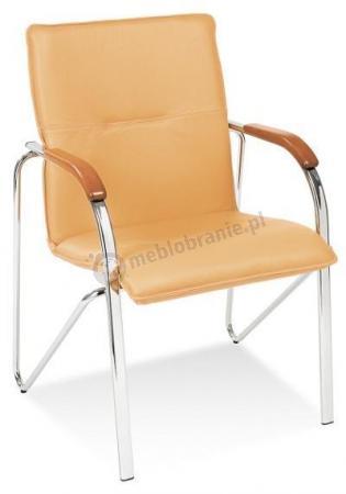 Krzesło konferencyjne Samba Oranż Stelaż Chrom