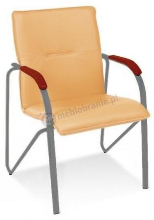 Krzesło konferencyjne Samba Koniak Aluminium