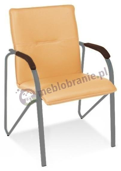 Eleganckie krzesło biurowe Samba Aluminium Wenge