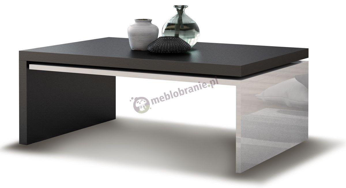 Stolik kawowy Modena biały połysk - czarny mat