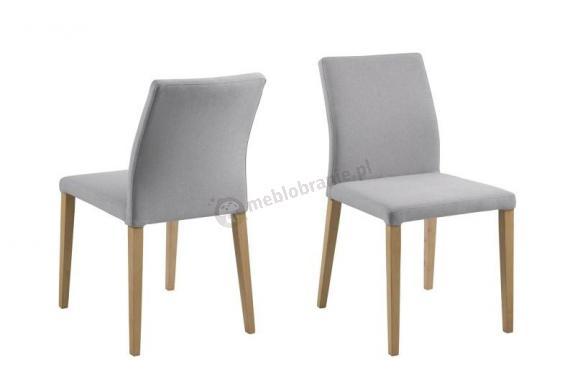 Actona Zina nowoczesne krzesło tapicerowane jasnoszare