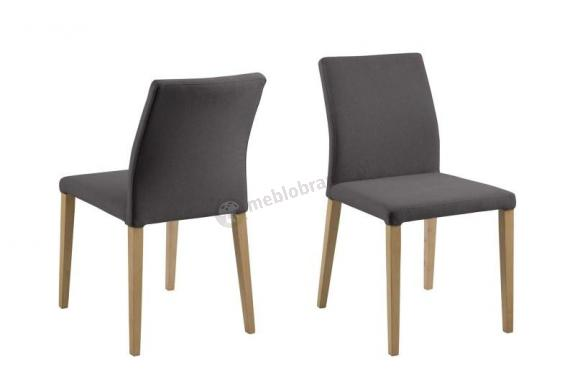 Actona Zina eleganckie krzesło tapicerowane ciemnoszare