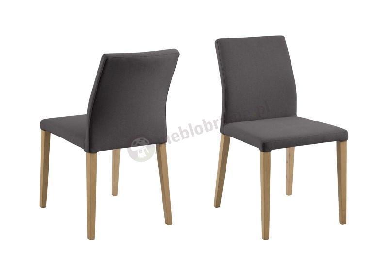 Actona Zina ciemnoszare krzesło tapicerowane