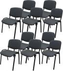 Krzesło ISO Black C38 - 10 sztuk - tapicerowane szare