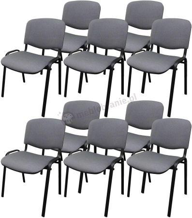 Krzesło ISO Black C73 - tapicerowane szaro-czarne - 10 sztuk