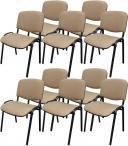 Krzesło ISO Black C4 - tapicerowane beżowo-brązowe - 10 sztuk