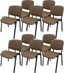 Krzesło ISO Black C24 - tapicerowane brązowo-beżowe - 10 sztuk