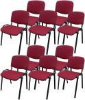 Krzesło ISO Black C29 - tapicerowane bordowe - 10 sztuk