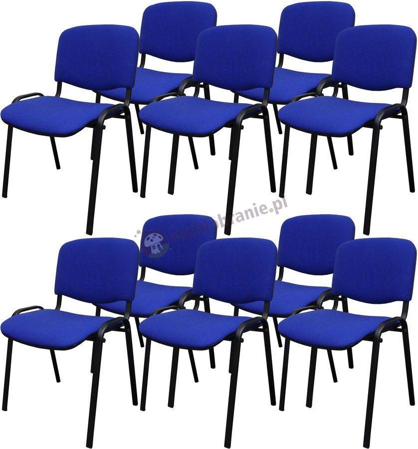 Krzesło ISO Black C14 - 10 sztuk - tapicerowane niebiesko-czarne