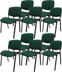 Krzesło ISO Black C32 - tapicerowane czarno-zielone - 10 sztuk