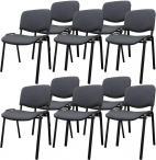 Krzesło ISO Black C26 - tapicerowane czarno-szare - 10 sztuk