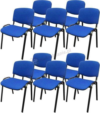 Krzesło ISO Black C6 - tapicerowane niebieskie - 10 sztuk