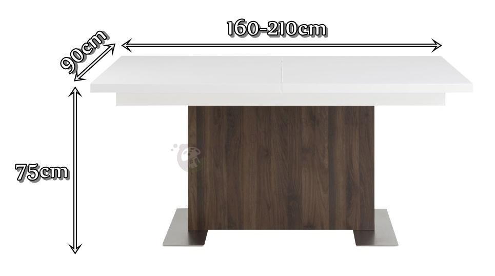 Actona Brick - wymiary rozkładanego stołu