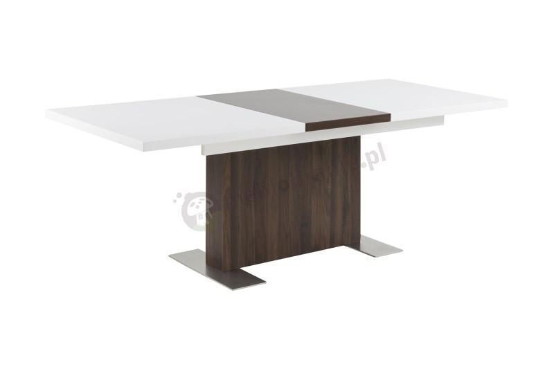 Actona Brisk stół biały wysoki połysk z funkcją rozkładania