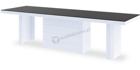 Stół Kolos 140 długi stół do jadalni rozkładany Czarny Połysk