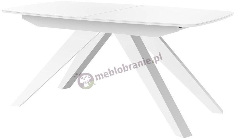 Makani stół rozkładany do salonu Biały Połysk