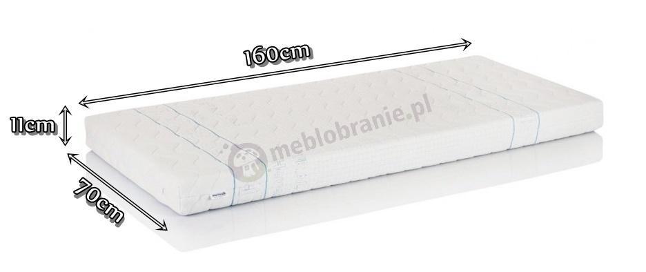 Materac lateksowy Hevea Junior 160x70