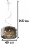 Klosz wiszący Rain Pendant P0076-05L-F4K9 - wymiary