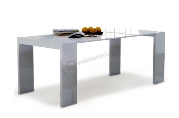 Modernistyczne Biurko rozkładane stół Lille 2w1 Biały Połysk – Meblobranie.pl BJ89