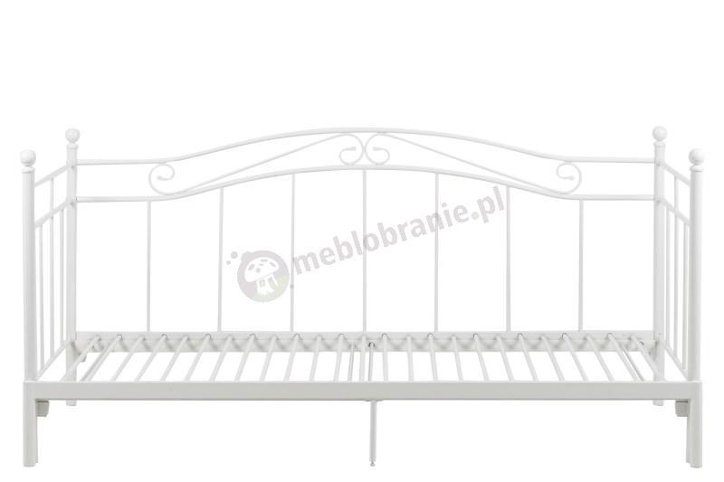 Ozdobne łóżko metalowe Bavo