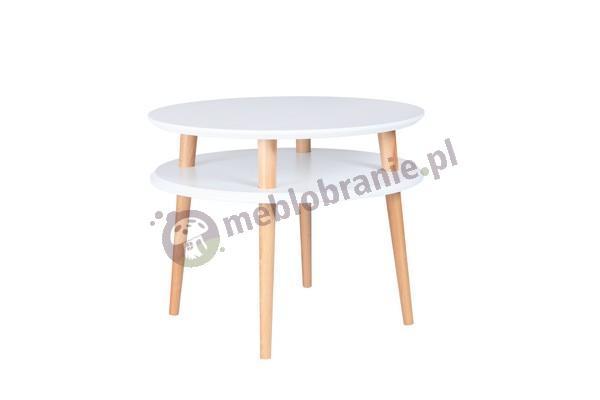 Skandynawski stolik kawowy biały UFO Medium