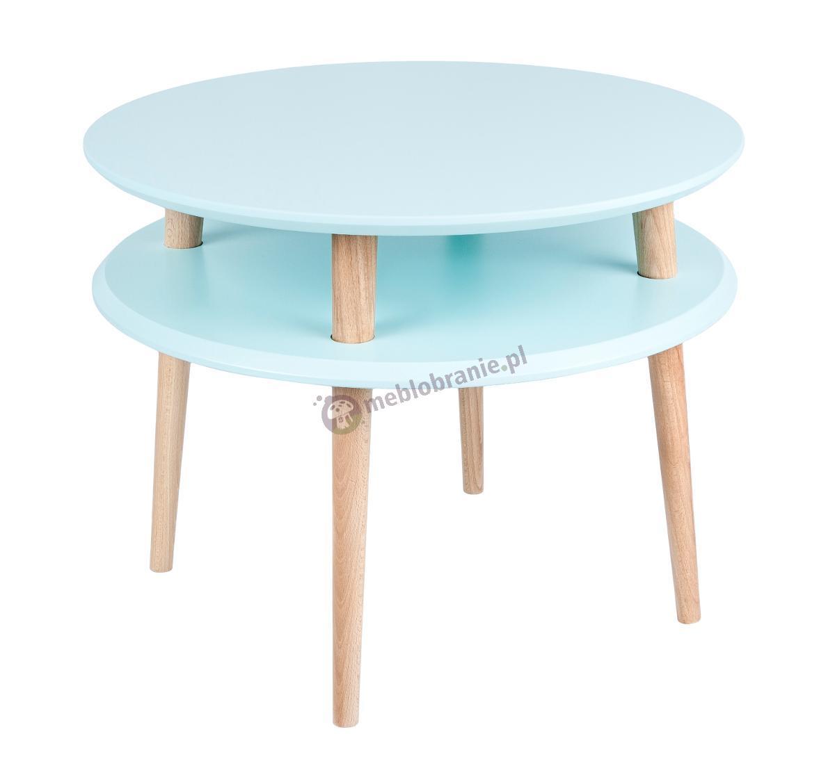 Skandynawski stolik kawowy jasny turkus UFO Medium