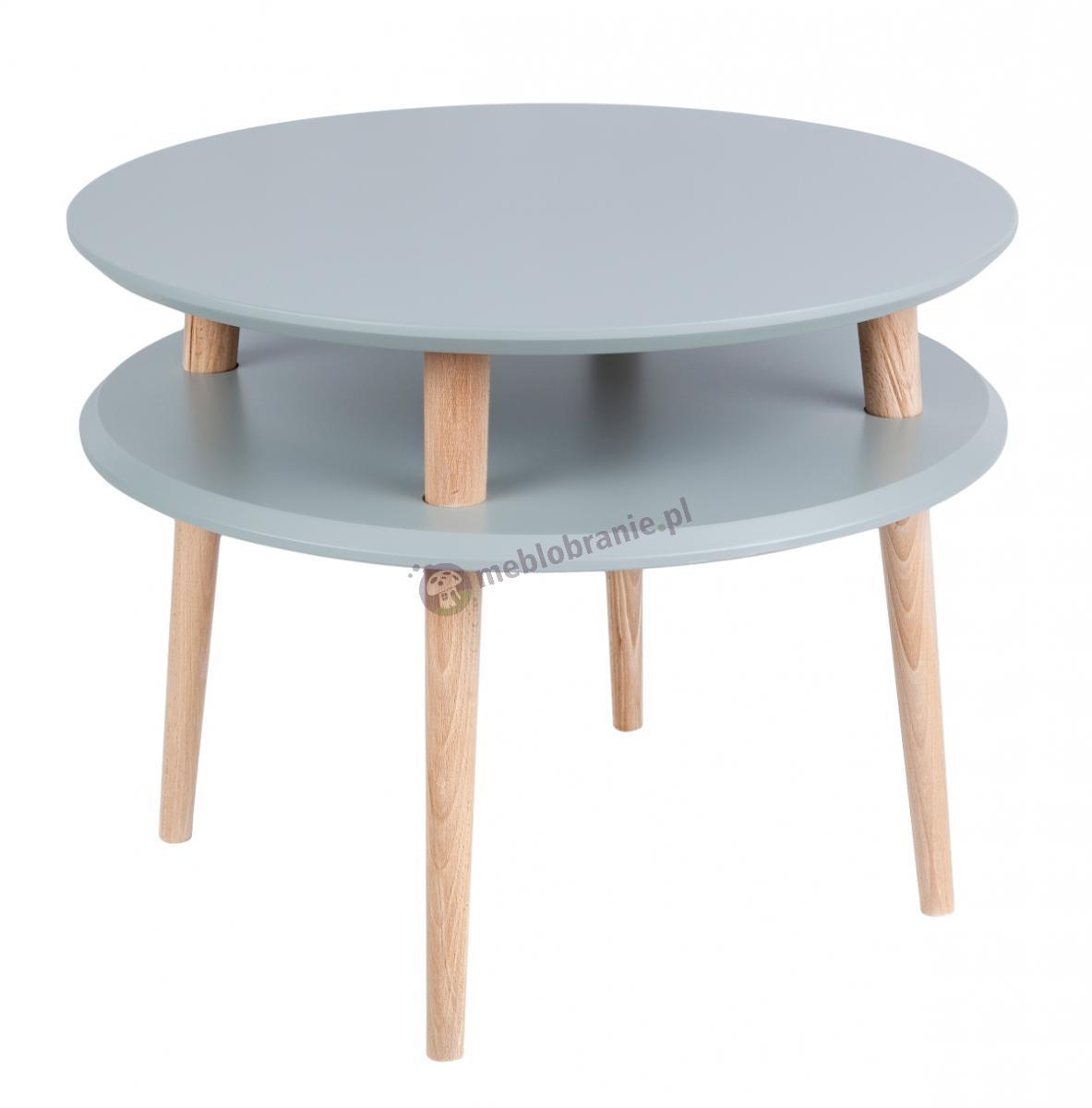 Skandynawski stolik kawowy ciemnoszary UFO Medium