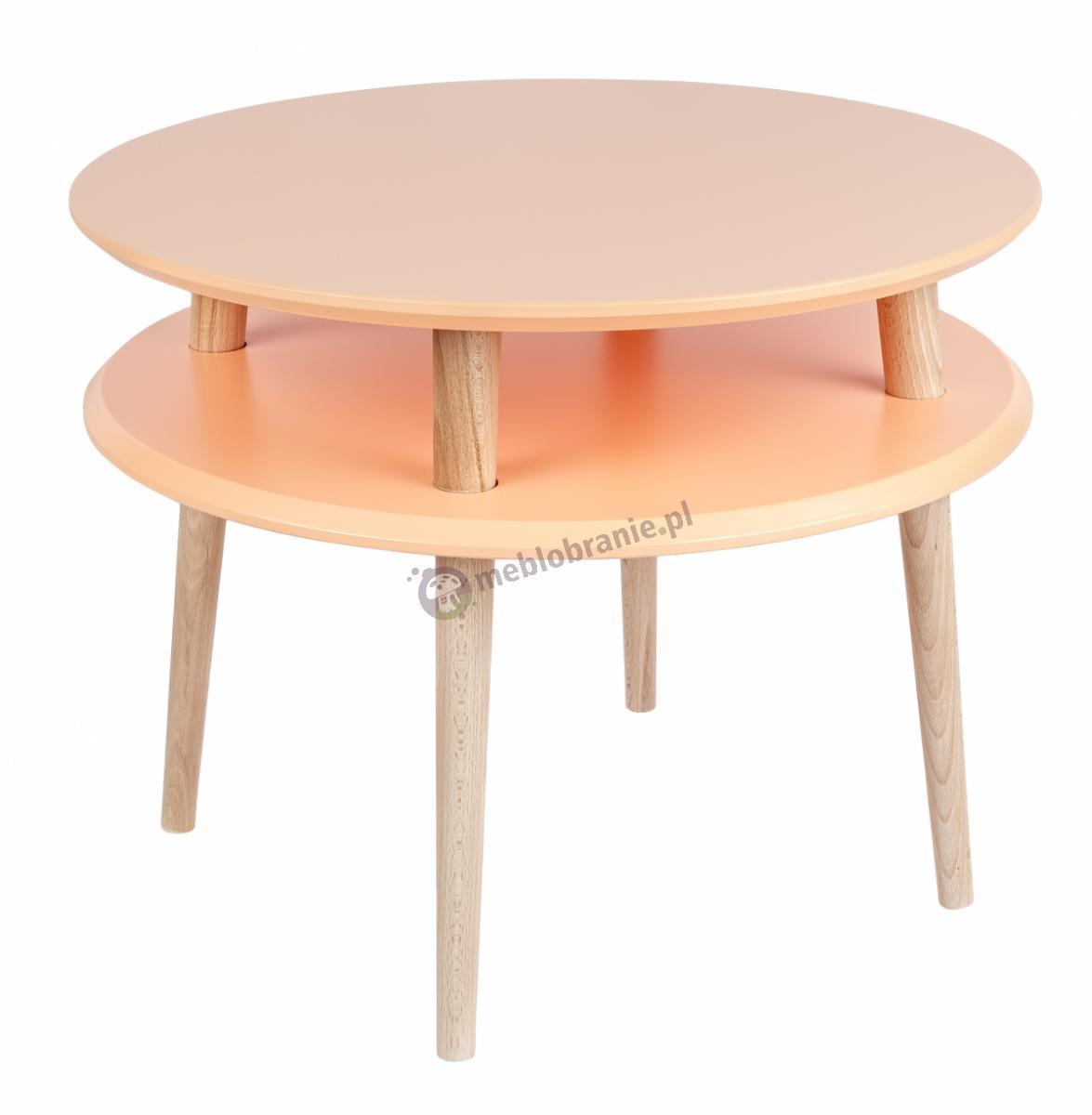 Skandynawski stolik kawowy pomarańczowy UFO Medium