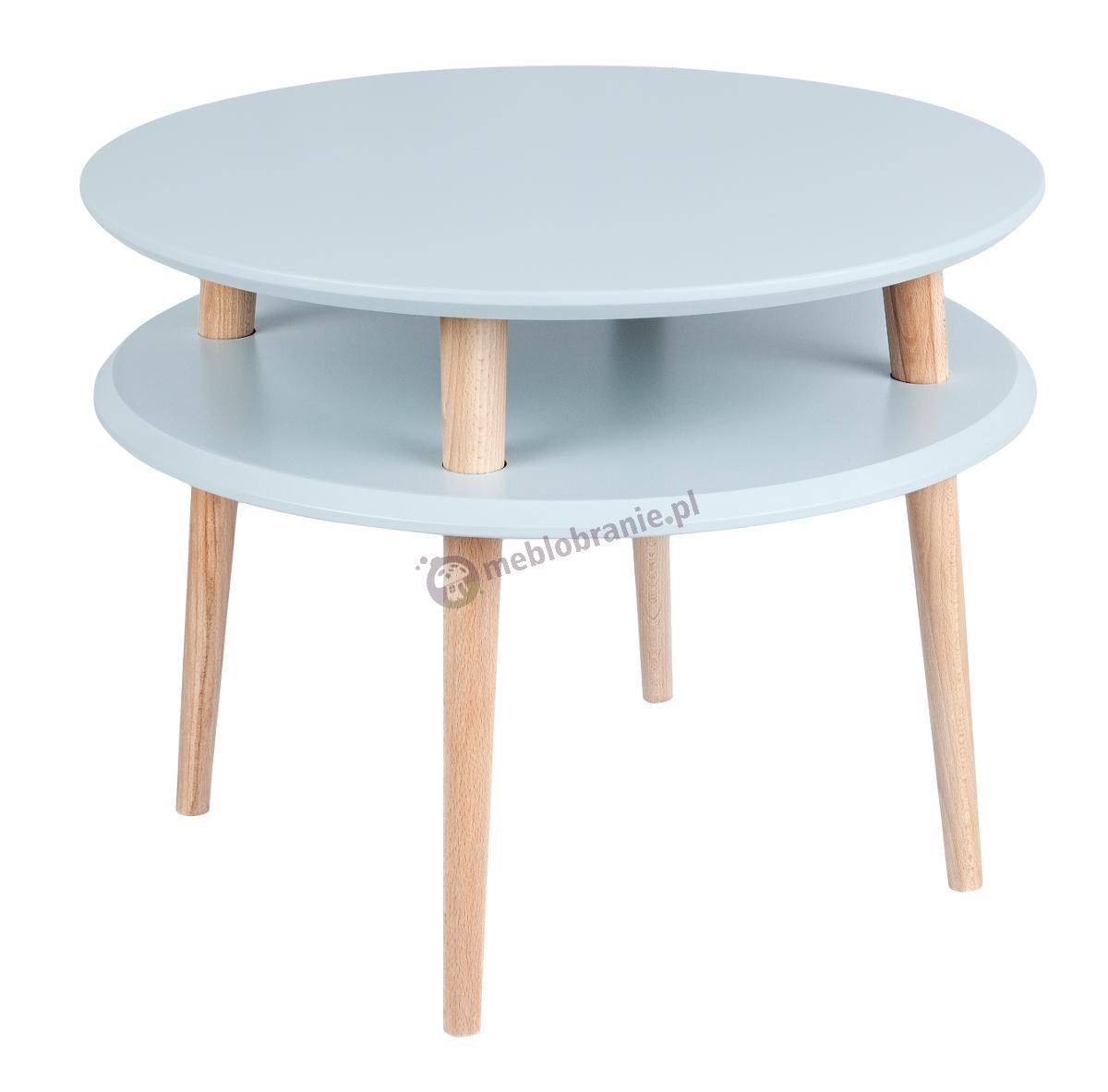 Skandynawski stolik kawowy jasnoszary UFO Medium