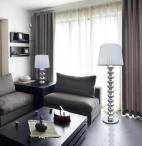 Lampa stojąca z białym kloszem Deco Floor TS-060216F-CHWH - aranżacja