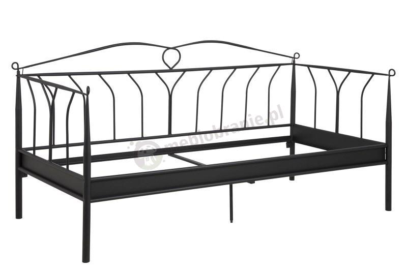 Prowansalskie łóżko Actona Line czarne