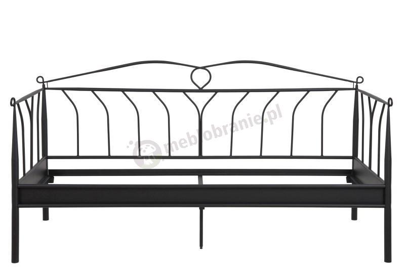 Ozdobne łóżko metalowe Line czarne