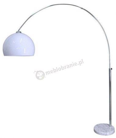 Wygięta lampa podłogowa z białym kloszem Vision Floor TS-010121W
