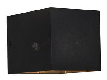 Kwadratowy kinkiet ścienny czarny Transfer WL 90842