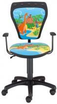 WYPRZEDAŻ Krzesło Ministyle Black Cartoons GTP TS22 Dino mały fotel biurowy
