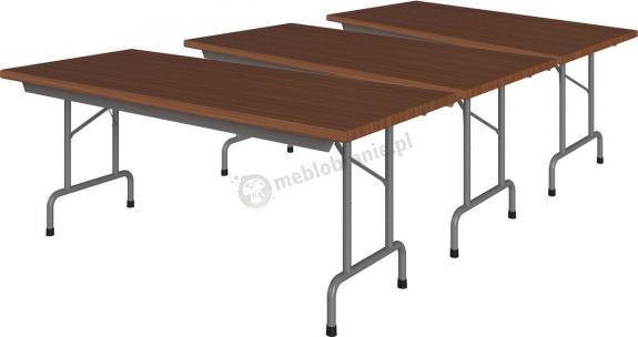 3 stoły składane w komplecie Rico 3 180x80cm Orzech