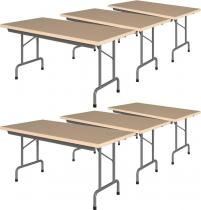 6 stołów bankietowych 160x80cm Rico 2 Nowy Styl Buk