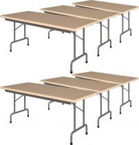 6 składanych stołów bankietowych 180x80 Rico 3 Buk